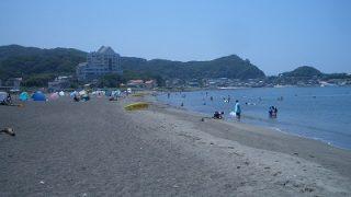 館山の海水浴場など。